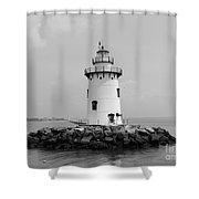 Old Saybrook Connecticut Lighthouse Shower Curtain