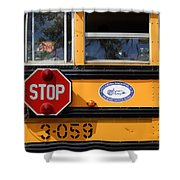 Old School Bus 1 Shower Curtain