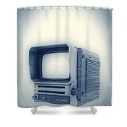 Old School Television Shower Curtain