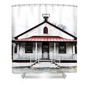 Old Schoolhouse Chester Springs Shower Curtain