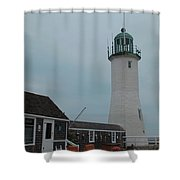Old Scituate Light Shower Curtain