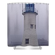Old Scituate Light Tower Shower Curtain