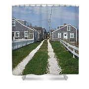 Old 'sconset Nantucket Houses Shower Curtain
