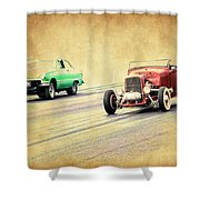 Old Scool Racing Shower Curtain