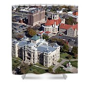 Old Sedgwick County Courthouse In Wichita Shower Curtain