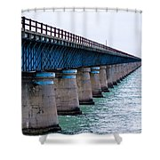 Old Seven Mile Bridge Shower Curtain