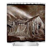 Old Shack Bodie Ghost Town Shower Curtain