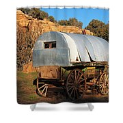 Old Sheepherder's Wagon Shower Curtain