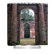 Old Sheldon Ruins Archway Shower Curtain