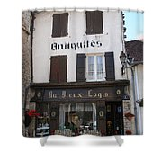 Old Shop In Tournus Shower Curtain