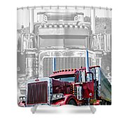 Old Skool-double Pete Shower Curtain