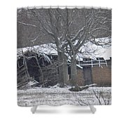 Old Snowy House Shower Curtain
