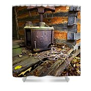 Old Sorghum Press Shower Curtain