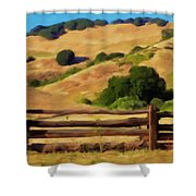 Old Split Rail Fence Shower Curtain