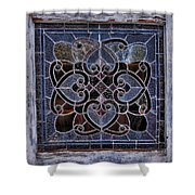 Old Stain Glass Window Shower Curtain