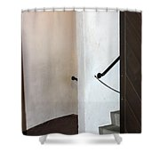 Old Stair Abstract Shower Curtain