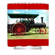 Old Steam Engine Shower Curtain