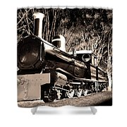 Old Steam Train Shower Curtain