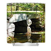 Old Stone Bridge Shower Curtain by Barbara McDevitt