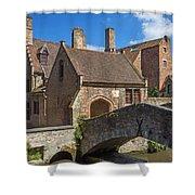 Old Stone Bridge In Bruges  Shower Curtain