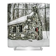 Old Stone Chapel Stowe Vermont Shower Curtain