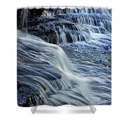 Old Stone Fort Waterfall Shower Curtain