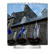 Old Stone Houses In Quebec City Canada  Shower Curtain