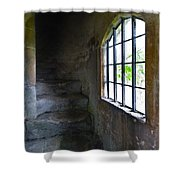Old Stone Staircase Shower Curtain