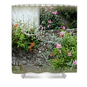 Old Stone Wall Shower Curtain