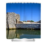 Old Stone Walls Of Nin Town Shower Curtain