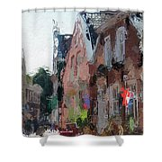 Old Street Cafe Shower Curtain