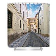 Old Street In Prague Shower Curtain