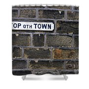 Old Street Sign Shower Curtain