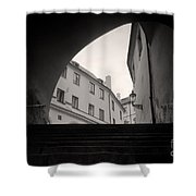 Old Streets In Prague Shower Curtain