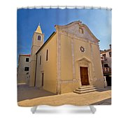 Old Streets Of Novalja Town Shower Curtain