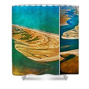 Old Style Topsail Shower Curtain