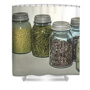 Old Style Vintage Kitchen Glass Jar Canning Shower Curtain