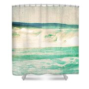 Old Surf Shower Curtain