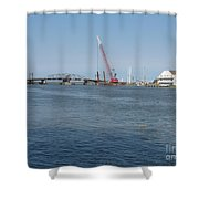 Old Swing Bridge Chincoteague Shower Curtain