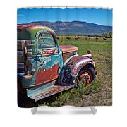 Old Taos Pickup Truck Shower Curtain