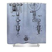 Old Tattoo Gun Patent Shower Curtain