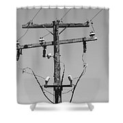 Old Telephone Pole Shower Curtain