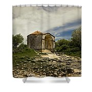 Old Temple Shower Curtain