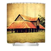 Old Texas Barn Shower Curtain by Julie Hamilton