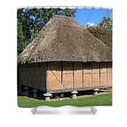 Old Thatched Barn Britain Shower Curtain