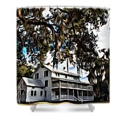 Old Thursby Plantation House Shower Curtain
