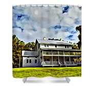 Old Thursby Plantation House Two Shower Curtain