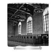 Old Ticket Counter At Los Angeles Union Station Shower Curtain