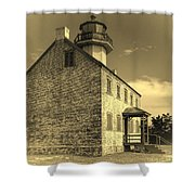 Old Time East Point Light Shower Curtain