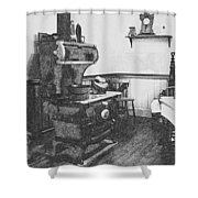 Old Time Farm Kitchen Shower Curtain